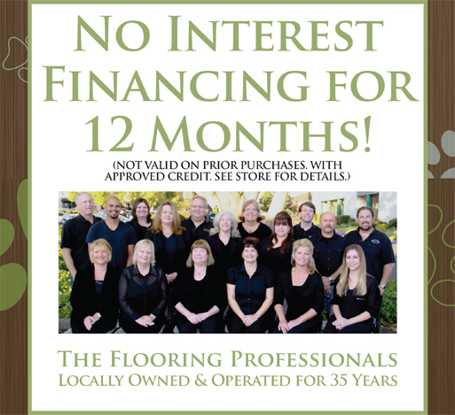No interest financing for 12 months