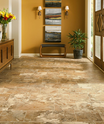 Luxury Vinyl Tile is easy to install and provides a high level of comfort.