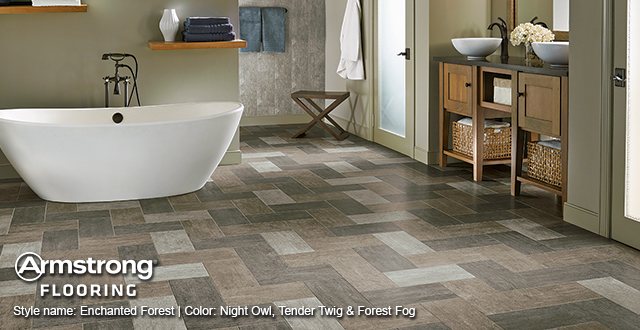 Natural Stone from Armstrong: Style name: Enchanted Forest | Color: Night Owl, Tender Twig & Forest Fog